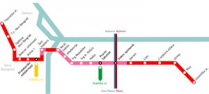 Harta metrou Belgrad