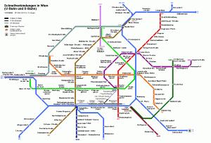 Harta metrou Viena