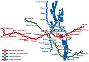 Harta metrou Kiev