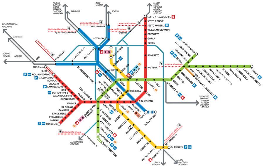 Harta Metroului Milan Profu De Geogra