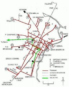 Harta metroului Torino