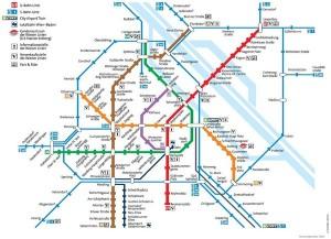 Harta metroului Viena