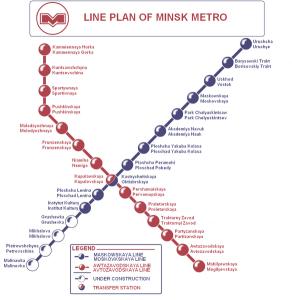 Harta metroului din Minsk