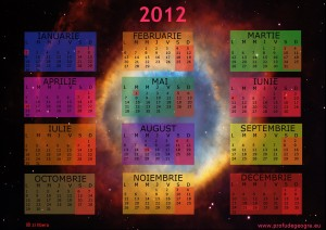 calendar 2012 Imagine realizata de telescopul Hubble