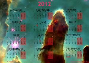 calendar 2012 Imagine realizata de telescopul Hubble Piloanele creatiei