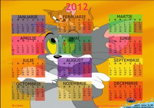 calendar 2012 Tom si Jerry