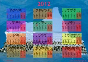 calendar 2012 Viata in Antarctida