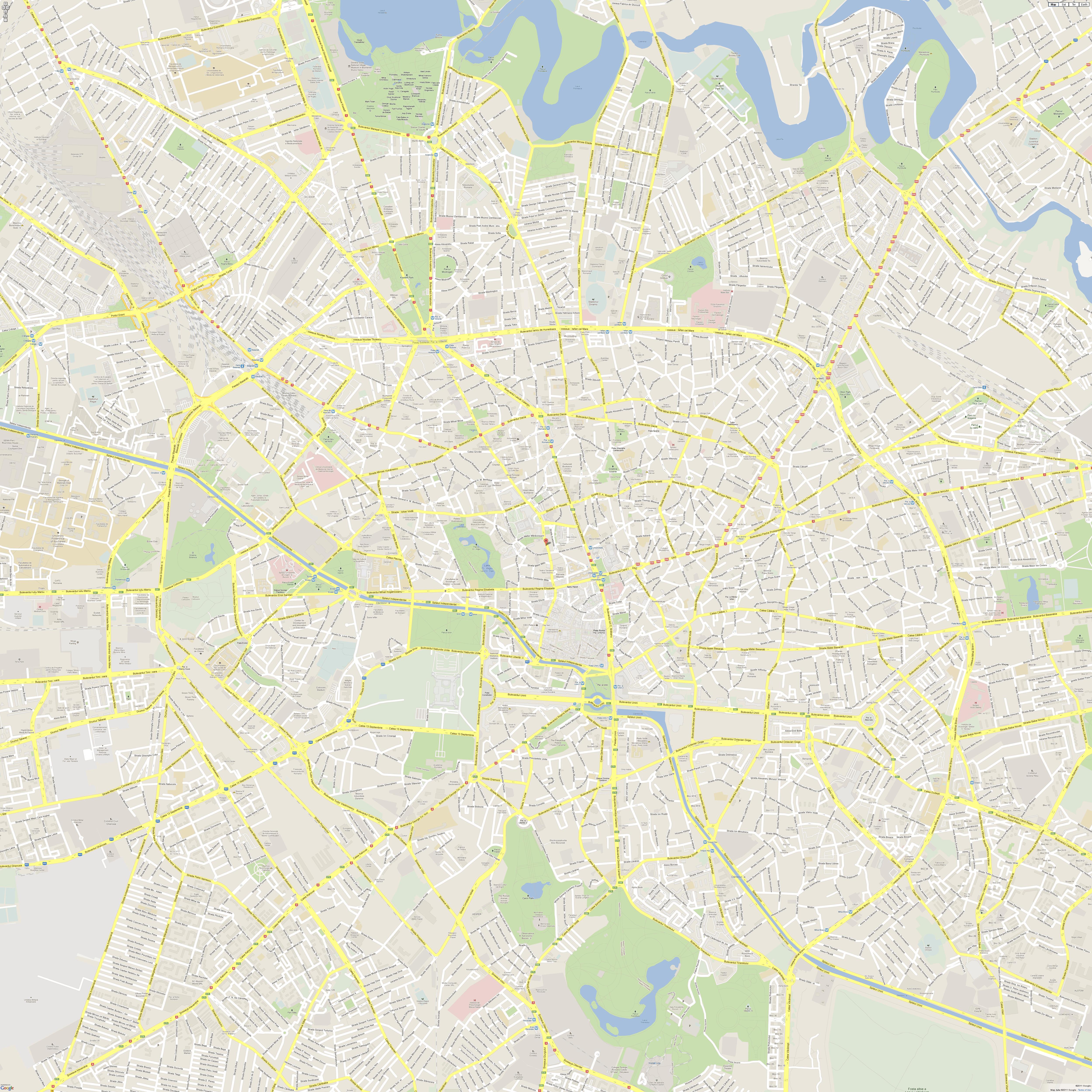 Harta De Perete Bucuresti Integral 140x180 Cm Stiefel Romania