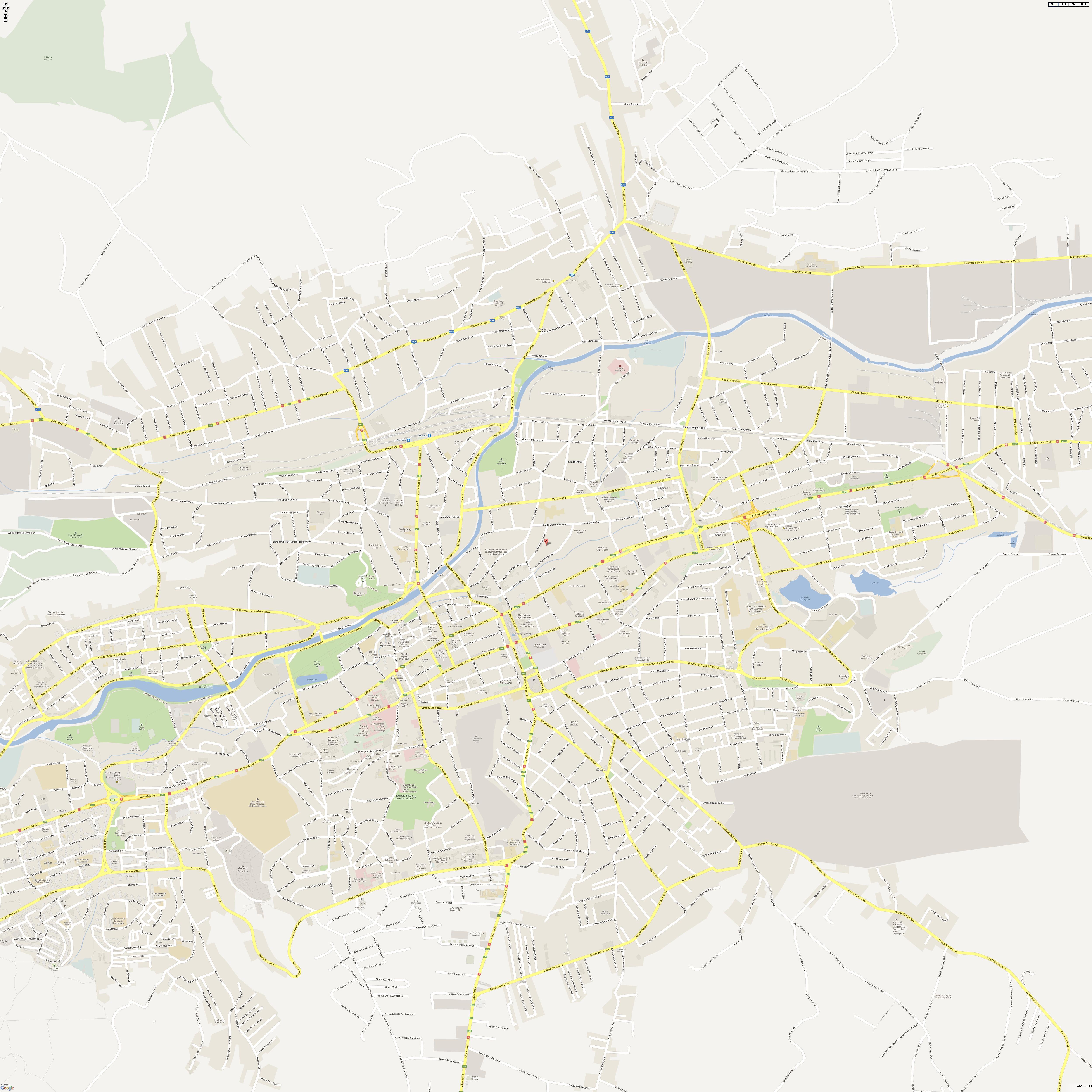 Harta Rutiera Cluj