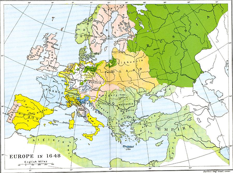 Harta Europei 1648 Profu De Geogra