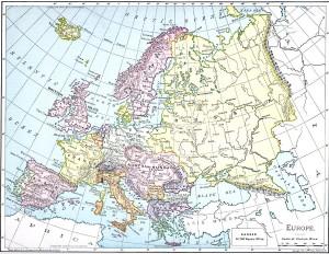 Harta Europei (1901)