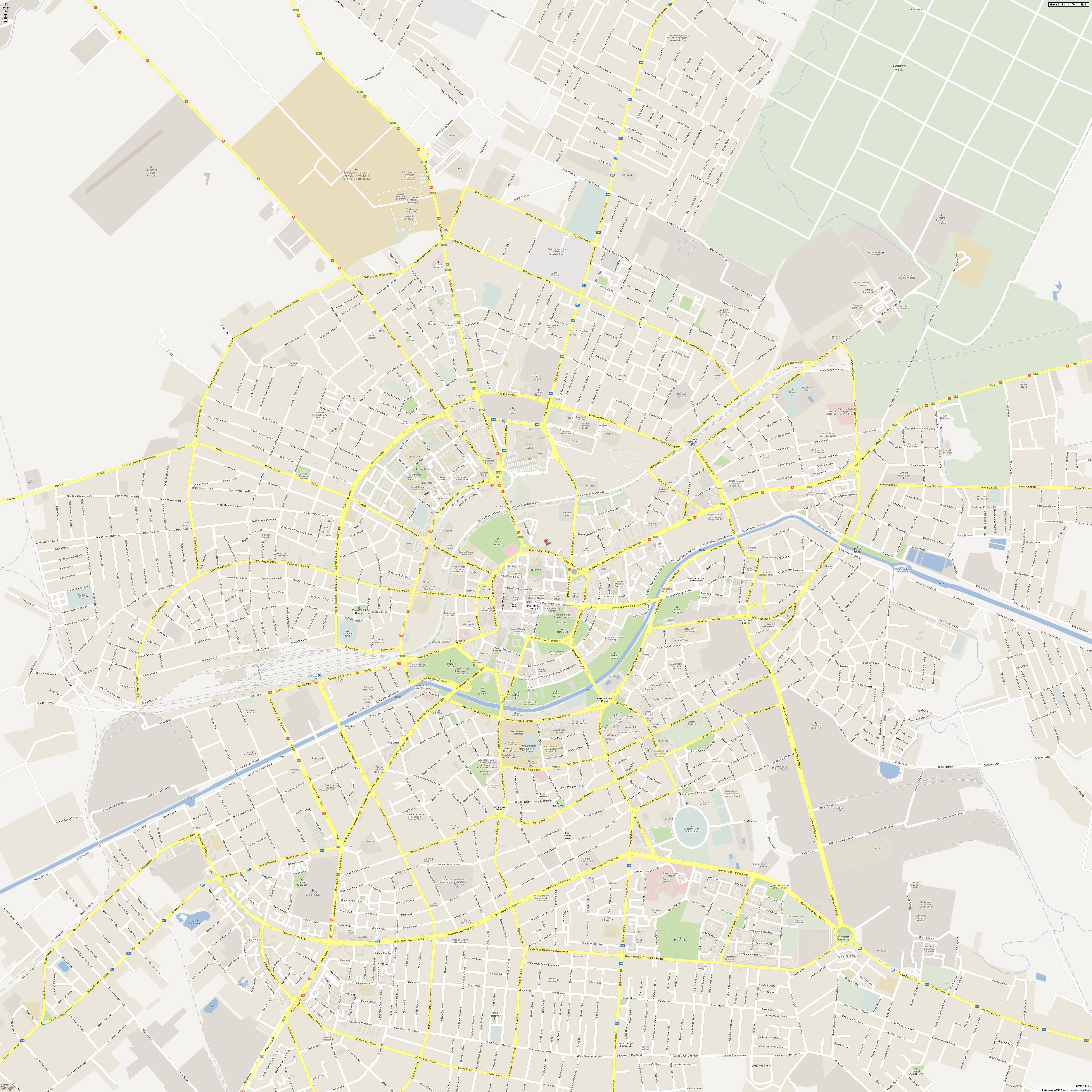 Harta Timisoara Profu De Geogra