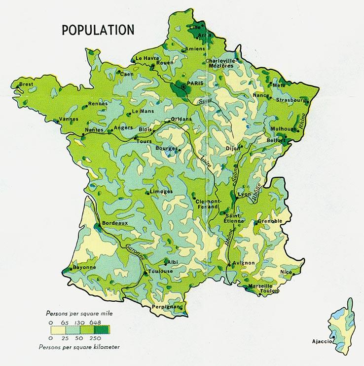 Harta Densitatii Populatiei In Franta Profu De Geogra