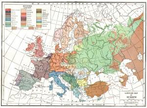 Harta lingvistica a Europei (1914-1918)