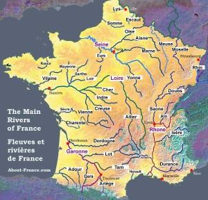 Harta raurilor Franta