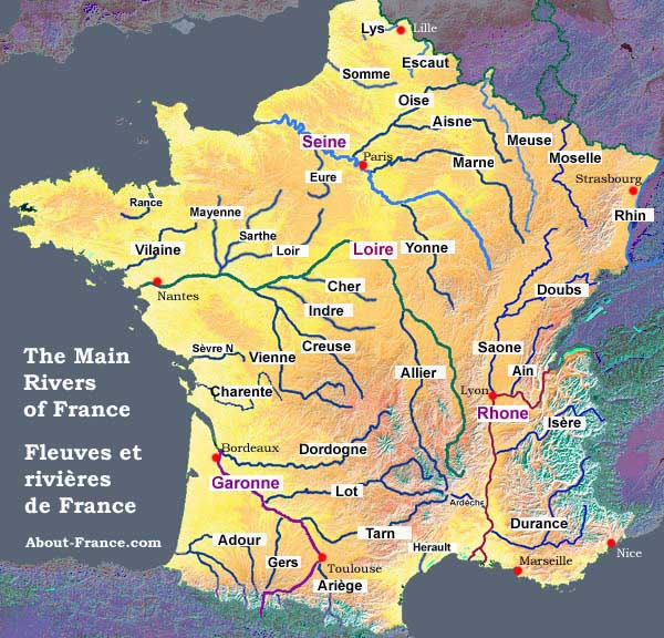 Harta Raurilor Franta Profu De Geogra