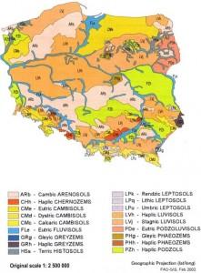 Harta solurilor in Polonia