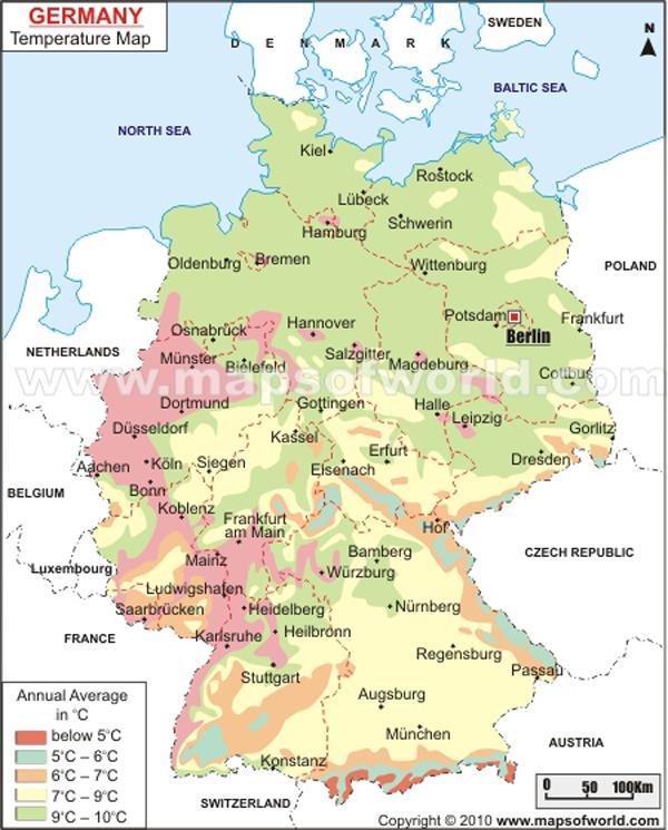 Harta Temperaturilor In Germania Profu De Geogra