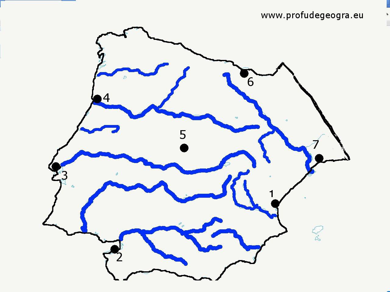 Harta Oarba Peninsula Iberica Profu De Geogra