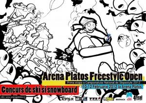 10-12 februarie 2012 -Arena Platos- Concurs de snowboard și freeski