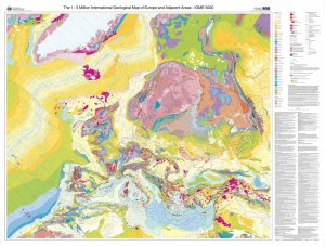 Harta geologica a Europei