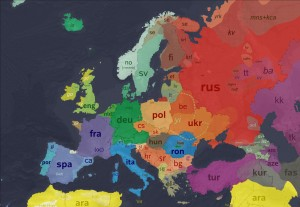Harta lingvistica a Europei