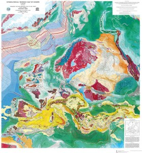 Harta tectonica a Europei