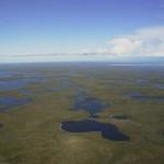 Imagine din delta fluviului Mackenzie (Canada)