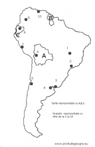 Fisa de evaluare America de Sud