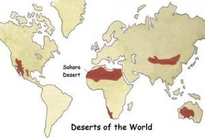 Harta desertul Sahara