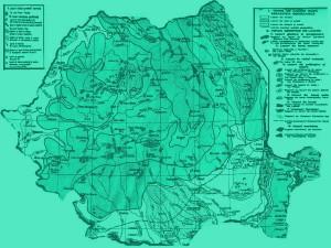 Harta lacurilor din Romania