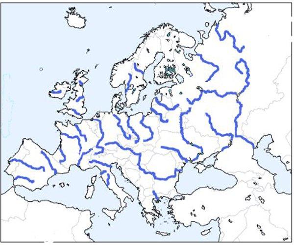 Harta Rauri Europa Profu De Geogra