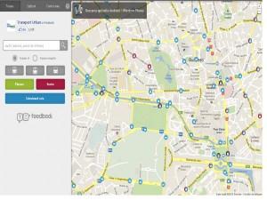 Harta mijloacelor de transport din Bucuresti