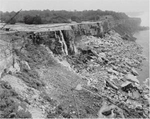 Cascada Niagara  secata de ingineri
