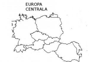 Harta muta a Europei Centrale
