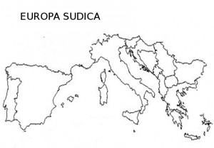 Harta muta a Europei Sudice