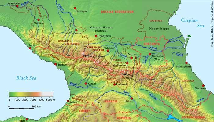 unde articulațiile sunt tratate în Caucaz)