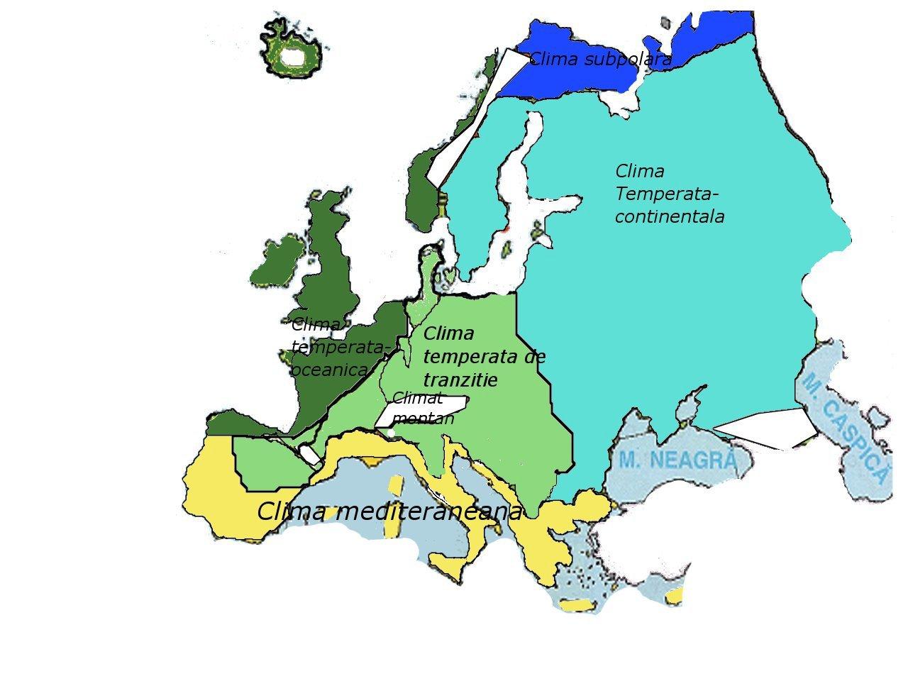 Clima Europei Si Clima Romaniei