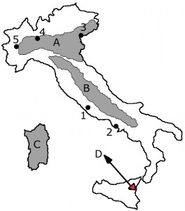Harta muta Italia
