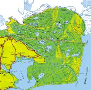 harta delta dunarii