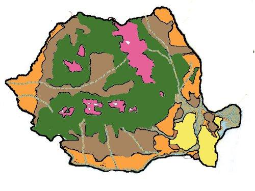 Harta Interactiva Vegetatia Romaniei