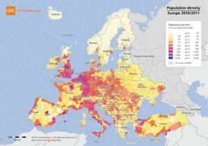 populatia europei