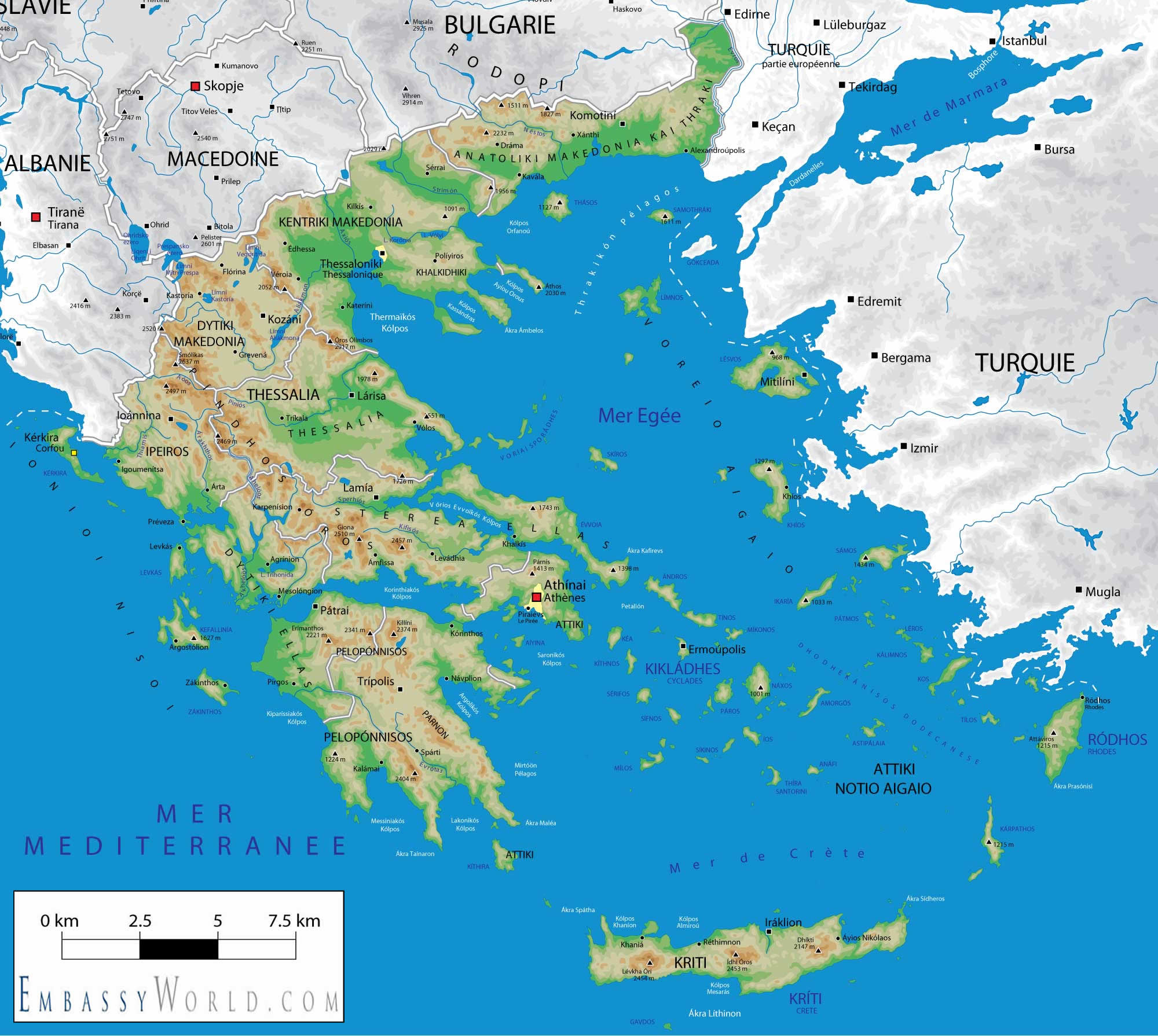 Physical Map Of Greece | galleryhip.com - The Hippest Galleries!