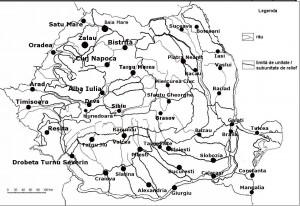 Harta Romaniei orase