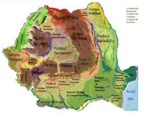 Harta Unitati de Relief Romania