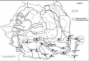 Harta oraselor din Romania-zona de sud si sud-est