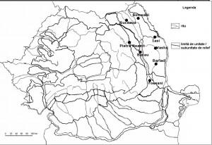 Harta oraselor din Romania-zona de est