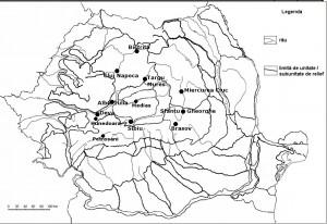 Harta oraselor din Romania-zona centrrala