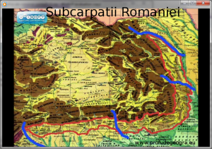 Harta - Unitatile fizico-geografice Subcarpatii Romaniei