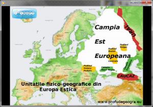 Harta - Unitatile fizico-geografice din Europa Estica